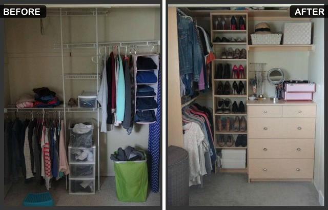 Before and After Closet collage
