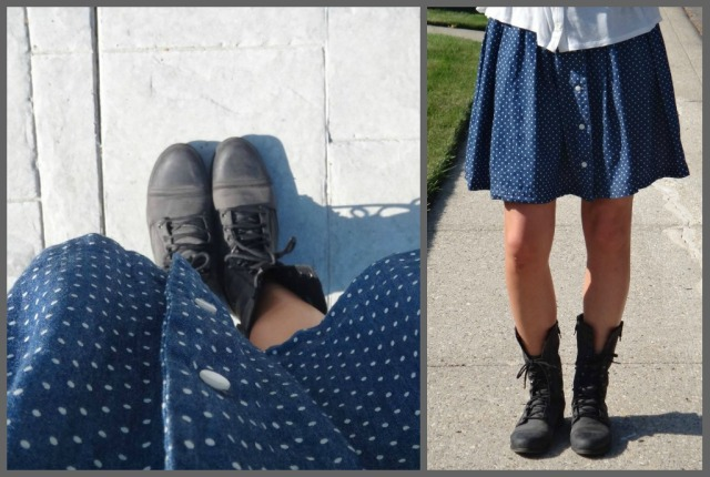 Polka Dot Boots Collage