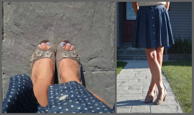 Polka Dot Heels Collage