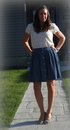 polka dot skirt 5 new