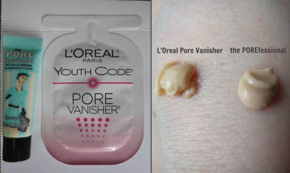 L'Oreal Pore Vanisher and Benefit's The Porefessional Ribbet collage